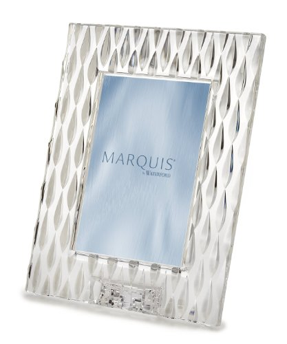 Vertical Desk Clock - Marquis By Waterford RAINFALL FRAME 5X7 PORTRAIT