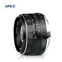 Meike MK-E-35-1.7 35mm F1.7 Large Aperture Manual Prime Fixed Lens APS-C for Sony E-Mount Digital Mirrorless Cameras NEX 3 NEX 3N NEX 5 NEX 5T NEX 5R NEX 6 7 A5000, A5100, A6000, A6100,A6300 A6500 A9 from Meike