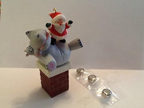 Hallmark 2018 I Want a Hippopotamus for Christmas Magic Ornament