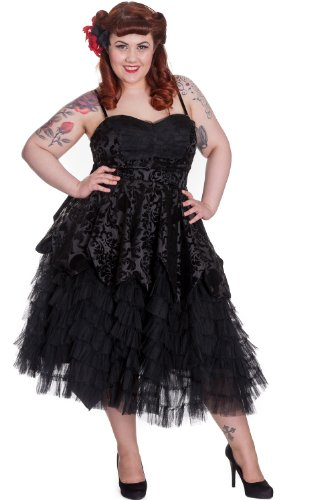 Hell-Bunny-Plus-Gothic-Victorian-Midnight-Ball-Black-Lace-Ruffled-Dress