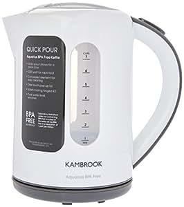 Kambrook KAK60WHT Aquarius Kettle, 1.7 Liter, White