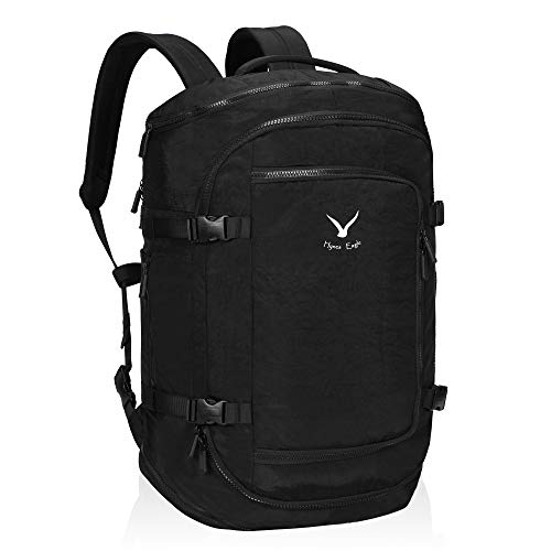 Hynes Eagle Travel Backpack Flight Approved Carry on Backpack Weekender Cabin Hand Luggage 45L Black 2019