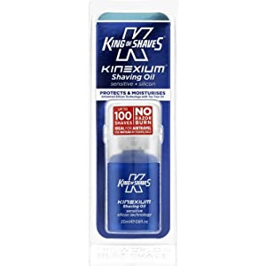 King of Shaves Kinexium Shaving Oil Sensitive, Silicon Bottle with Pump 20 ml