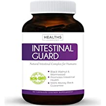 Intestinal Guard (NON-GMO) Intestinal Support for Humans - Wormwood & Black Walnut - 100% Money Back Guarantee - 60 Capsules