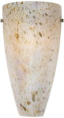 "Possini Euro Design Caramel Amber 13"" High Art Glass Sconce"
