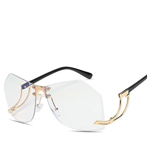 de Gafas del Gafas Remaches y Europeos Las de de Regalos Americanos B Sol los Lentes de de de Axiba de definición creativos Hombres Moda Metal Gafas de Irregulares Sol Alta Sol XqwRW5