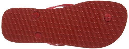 Havaianas chanclas Hombre/Mujer Top Rojo (Ruby Red 2090)