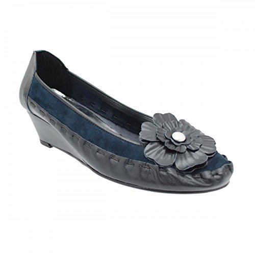 Zaccho Shoe Wedge Slip Navy Women's On Low rgqwnrAxp