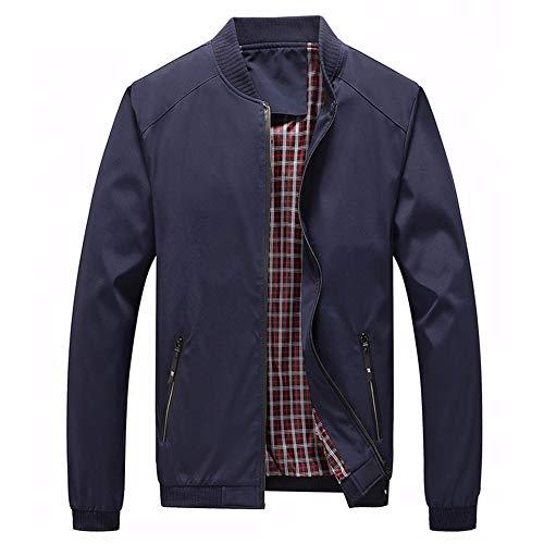 Men's Fall Plaid Jacket Fashion Softshell Bomber Jackets Coat