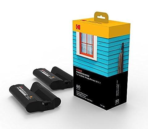 Kodak Dock & Wi-Fi Photo Printer Cartridge PHC – Cartridge Refill & Photo Sheets - 80 Pack (Photo Printer For Iphone 6)