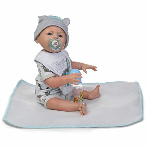 Reborn Newborn Boy Anatomically Correct Baby Full Body Silicone Dolls 20 Inch Realistic Kids Birthday Toys Magnetic Pacifier