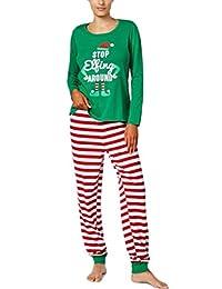 hujukuludusu Christmas Family Matching Pajamas Set Xmas Sleepwear Nightwear