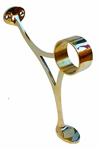 Bar Foot Rail Bracket-Combination Style Bracket -Polished Brass 2