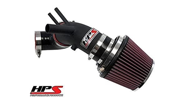 Amazon.com: HPS Wrinkle Black Shortram Cool Air Intake For Hyundai 13-14 Genesis Coupe 2.0T Turbo 2-Door: Automotive
