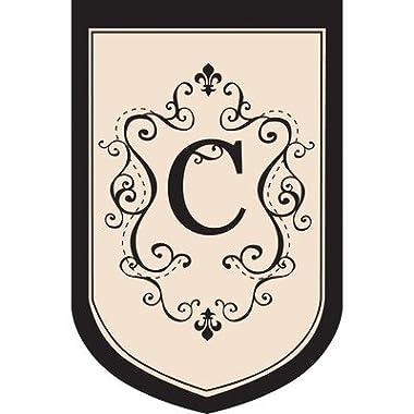 Monogram Garden Flag Letter: C