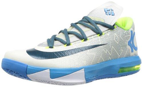 NIKE KD VI LAM Men Sneakers Pure Platinum Vivid Blue Volt Night Factor 599424-009