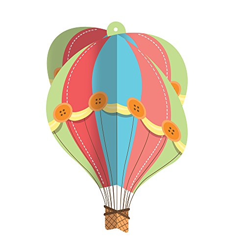 Creative Converting Up, Up & Away Hanging Chandelier Hot Air Balloon