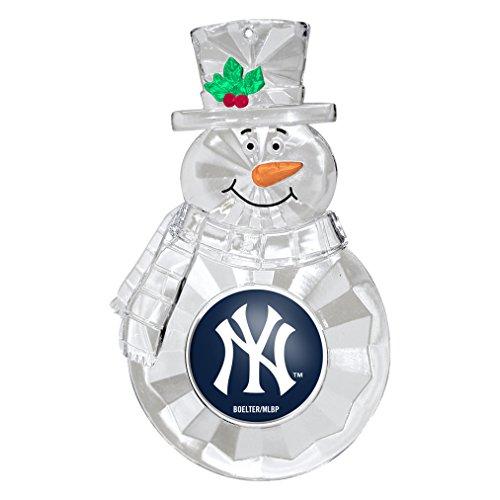 MLB New York Yankees Traditional Snowman Ornament