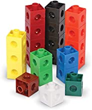 Learning Resources Snap Cubes, Homeschool, Educational Counting Toy, Math Classroom Accessories, Teacher Aids,