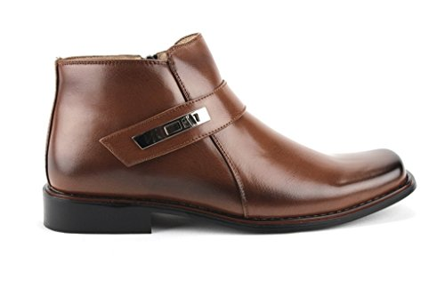 Image of Jazame Men's 38901 Ankle High Square Toe Casual Dress Boots, Brown, 9.5
