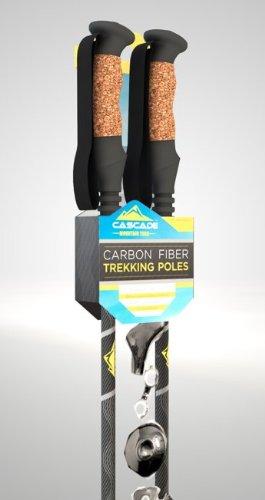 Cascade Mountain Tech Carbon Fiber Trekking Poles, Outdoor Stuffs