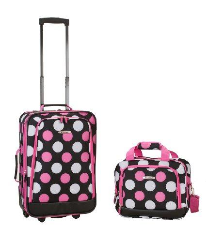 rockland-luggage-2-piece-printed-luggage-set-mulpink-dots-medium