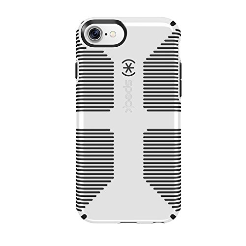 Speck Products 79239-1909 CandyShell Grip iPhone 8 Case, Also fits iPhone 7/6S/6 - White/Black from Speck