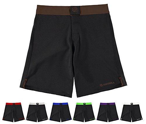 Sanabul Essential MMA BJJ Cross Training Workout Shorts (30 inch W, Brown)