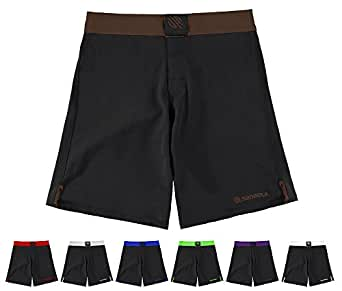 "Sanabul Essential MMA BJJ Cross Training Workout Shorts (30"" W, Brown)"