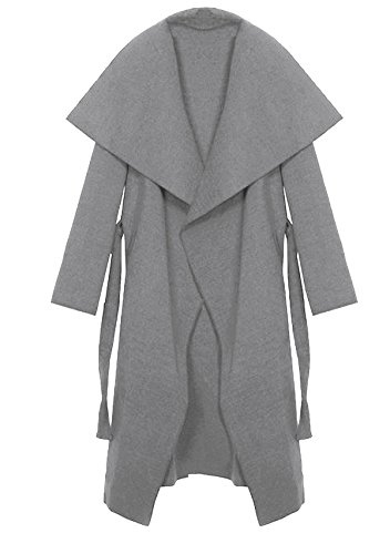Kendindza Clair One Collection Manteaux Femme Court Size Gris Trenchcoat Long RnSTR7x