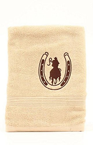 Western Moments Horseshoe Rider Bath - Towel Rider Bath Western