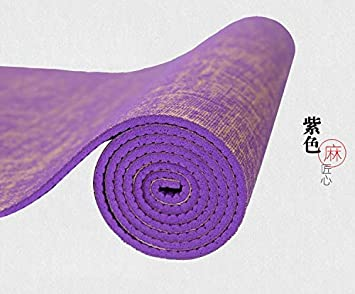 YOOMAT Natural Jute Yoga Mat Pad 183 * 61 cm*5 mm Eco ...