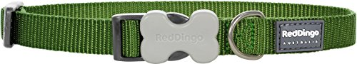 Red Dingo Classic Dog Collar, Large, Green