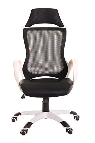 TimeOffice High Back Mesh Executive Chair With Headrest, Erg