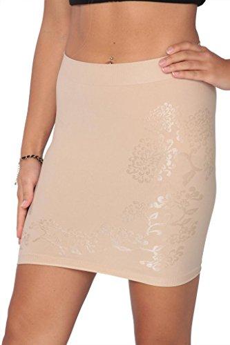 Hanes Women's Firm Control Half Slip (X-Large, Nude)