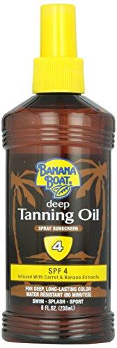 - Banana Boat Dark Tanning Oil Spray SPF 4, 8 oz