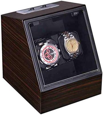 時計ワインダーボックス自動ストレージディスプレイケースボックス超静かなモーター、バッテリー駆動、ACアダプターは両方の男性、女性、良い贈り物の時計で使用できます。