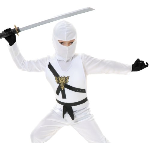 [84372 White Ninja Avenger Series I Kids Costume (Small 6-8)] (White Ninja Costumes For Kids)