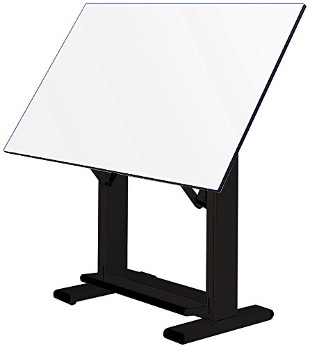 Alvin ET72-3 Elite Table, Black Base White Top 37.5 inches x72 inches