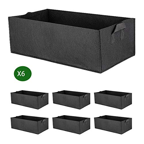 (Allinone 6-Packs Rised Garden Bed Planting Container Grow Bags)