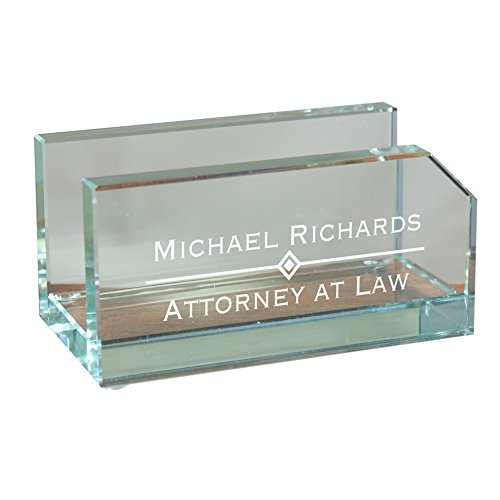 Personalized Glass Business Card Holder, 2