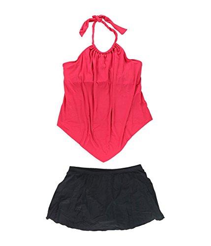 Nicole 2 Piece Suit - Miraclesuit Womens Nicole Underwire Skirt 2 Piece Tankini Orange 16