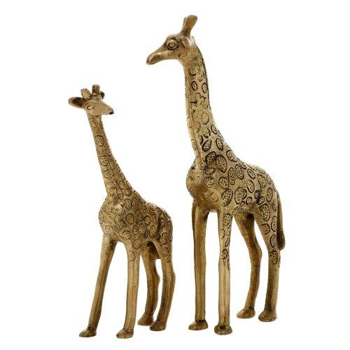 Gold Giraffe - Home Decor Mother And Child Giraffe Sculpture Brass Metal Art Gift