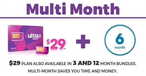 Ultra Mobile $29 Plan for 6 Months with Sim Card