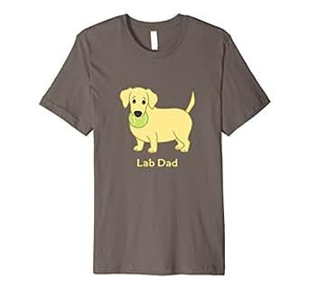 Mens Cute Fat Yellow Labrador Retriever Lab Dad T-Shirt 2XL Asphalt