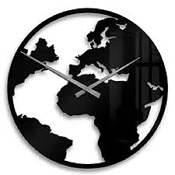 d9abb48845c Buy Burhani Acrylic World Map Wall Clock Online at Low Prices in India -  Amazon.in