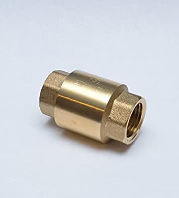 "FASPARTS 1/2"" NPT Female / FPT / FIP Inline Anti Back Flow Check Valve Coupler Brass Fitting Fuel / Air / Water / Boat / Gas / Oil WOG from FASPARTS"