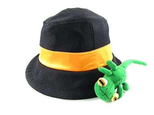 Hitman Reborn Lambo Costume (E-Mell Unisex Hitman Reborn Cosplay Reborn Sensei Cute Chameleon Topper Hat (Black))