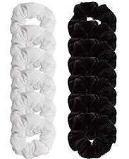 Scrunchies for Hair Black