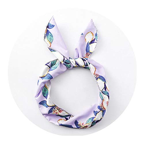 Bond Coffee Saucer (Lemon Leaves Hairband Metal Print Fruit for Women Ear Elastic Hair Bands for Girls Bow Headwear,purple Scarf)